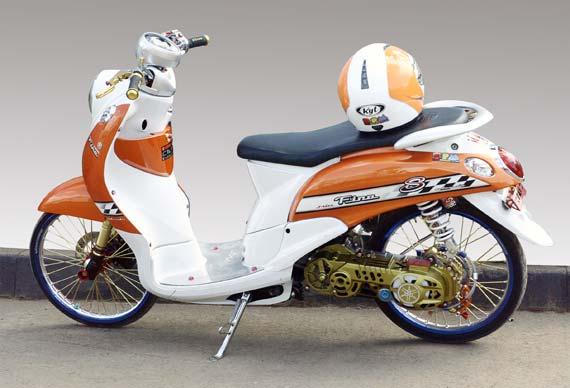 Modifikasi Yamaha Fino 2012 dari motorplus.otomotifnet.com title=