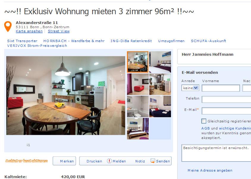 Bonn Wohnung Mieten  Zimmer