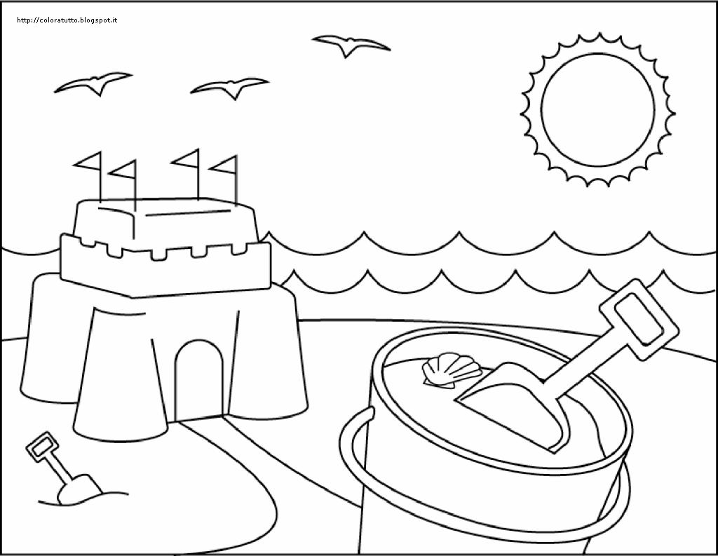 Estate disegno da colorare n 6 for Disegni da camera da spiaggia