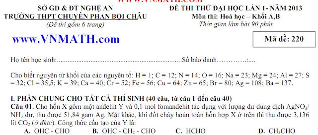 de thi thu dai hoc mon ly chuyen phan boi chau nghe an 2013