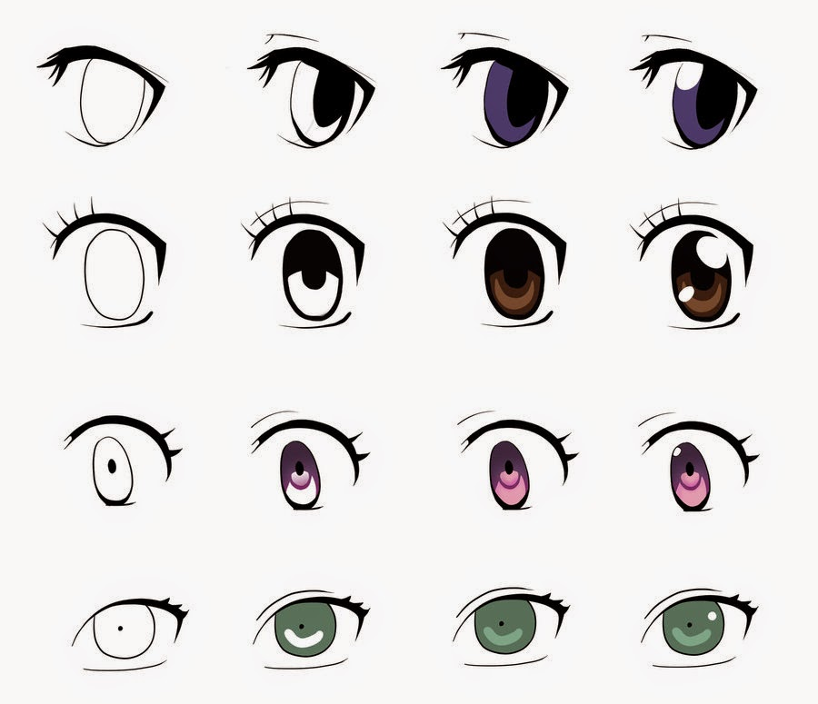Girl Eyes Drawing Draw Anime Girl Eyes Step