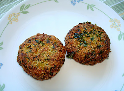 vegan fenugreek cutlets with mushrooms