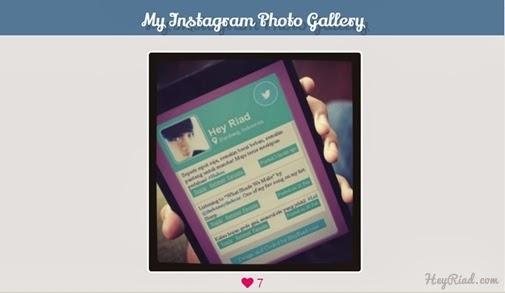 Cara Membuat Halaman Khusus Foto Instagram DI Blogg