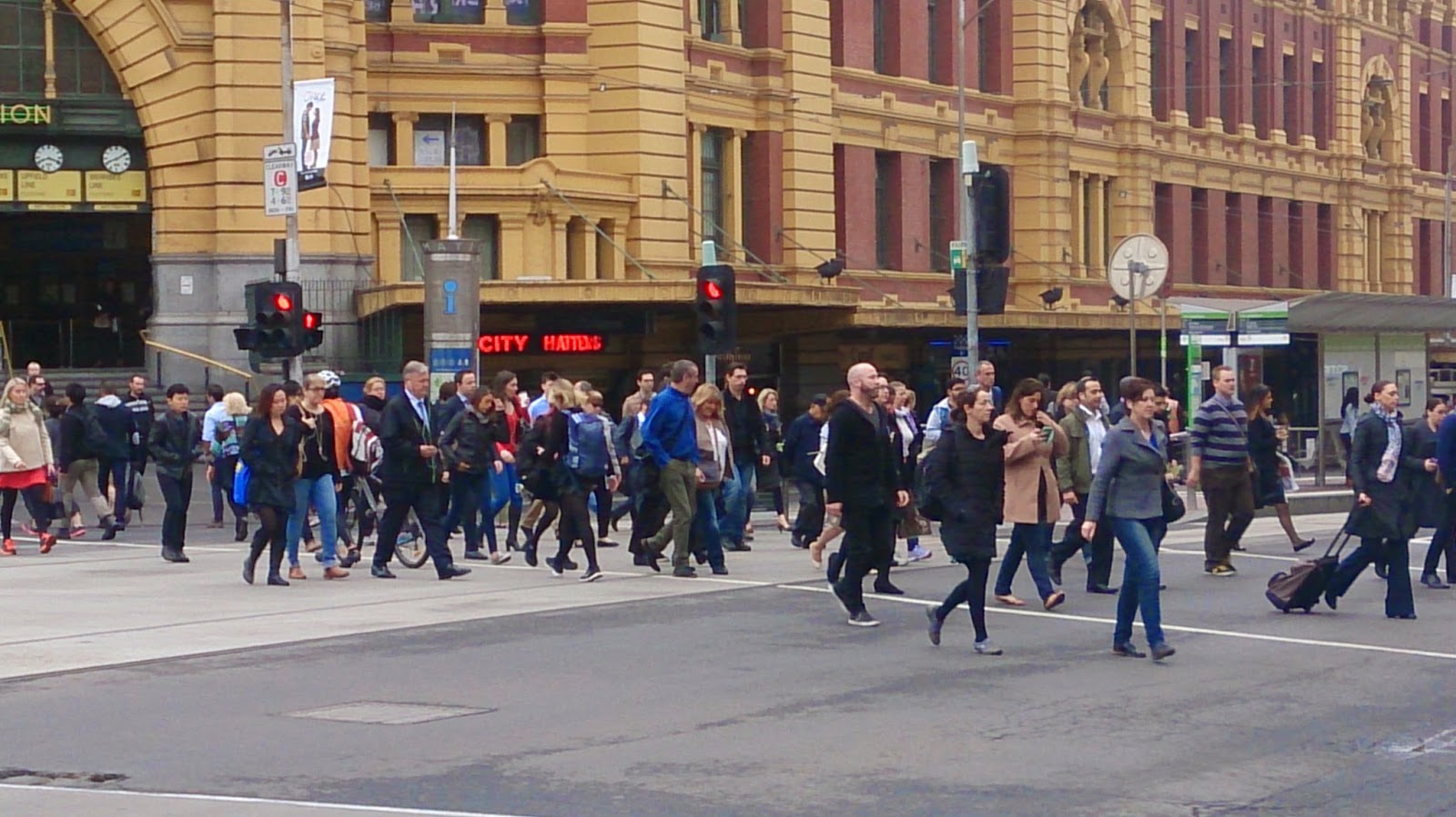Flinders Street Station Friday Morning