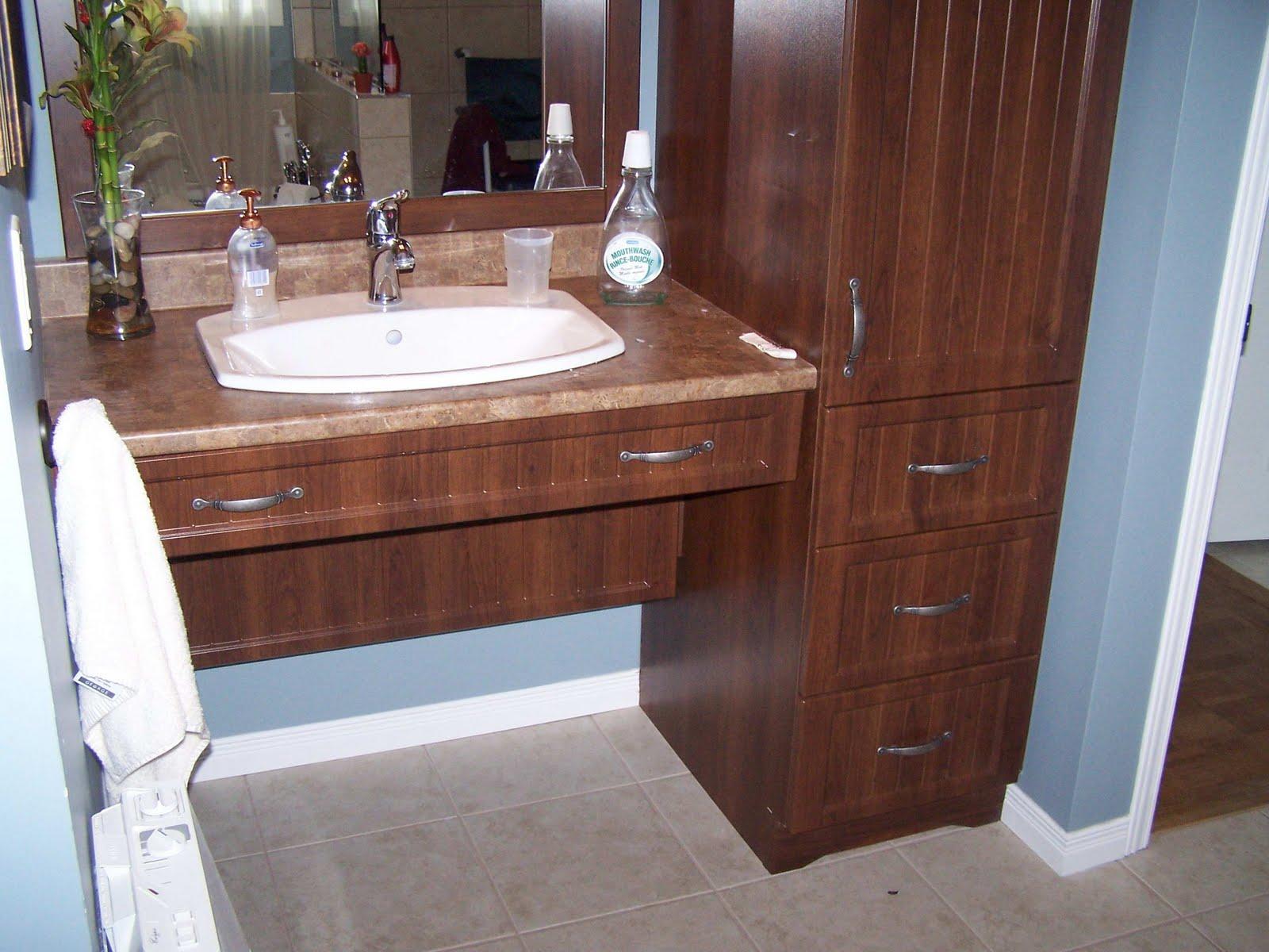 Specialit smm armoire de salle de bain thermoplastique for Hauteur comptoir salle de bain