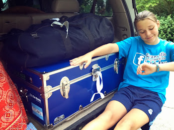 Clare packed for Camp 2013