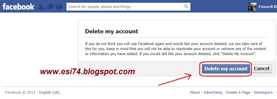 how to request to delete facebook account