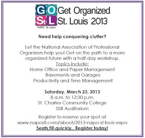 Get Organized St. Louis! March 23, 2013  at St. Charles Community College