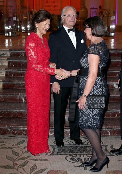 Queen Silvia And King Carl Gustaf Attended A dinner In Paris
