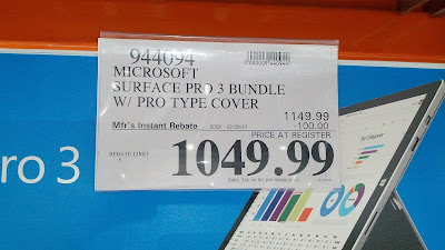 Microsoft Surface Pro 3 i5 bundle deal at Costco