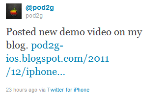 Pod2G Tweet Untethered Jailbreak iPhone 4