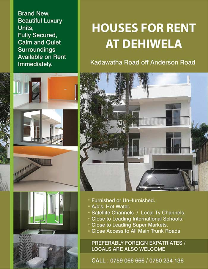 Houses for Rent at Dehiwala.