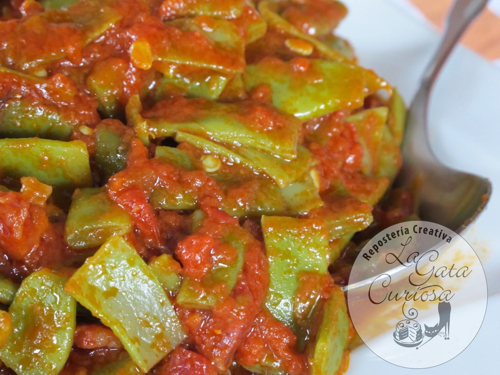 La gata curiosa judias verdes salteadas con jamon iberico - Tiempo de coccion de judias verdes ...