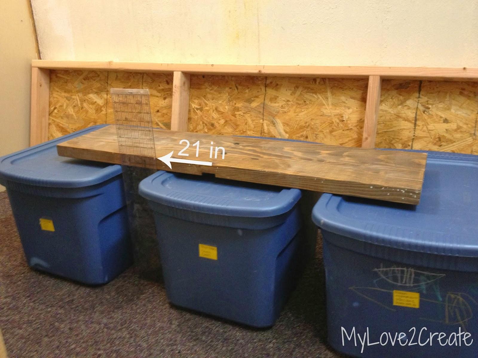 Storage Shelves, a tutorial | My Love 2 Create