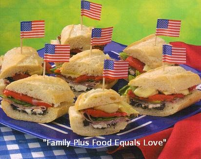 "Family Plus Food Equals Love: ""Antipasto-Stuffed Baguettes ..."