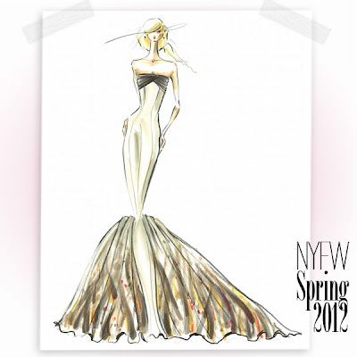 Bridal Fashion Week 2012 on Fashion Illustration Blog  Sketches From Fashion Week Spring 2012