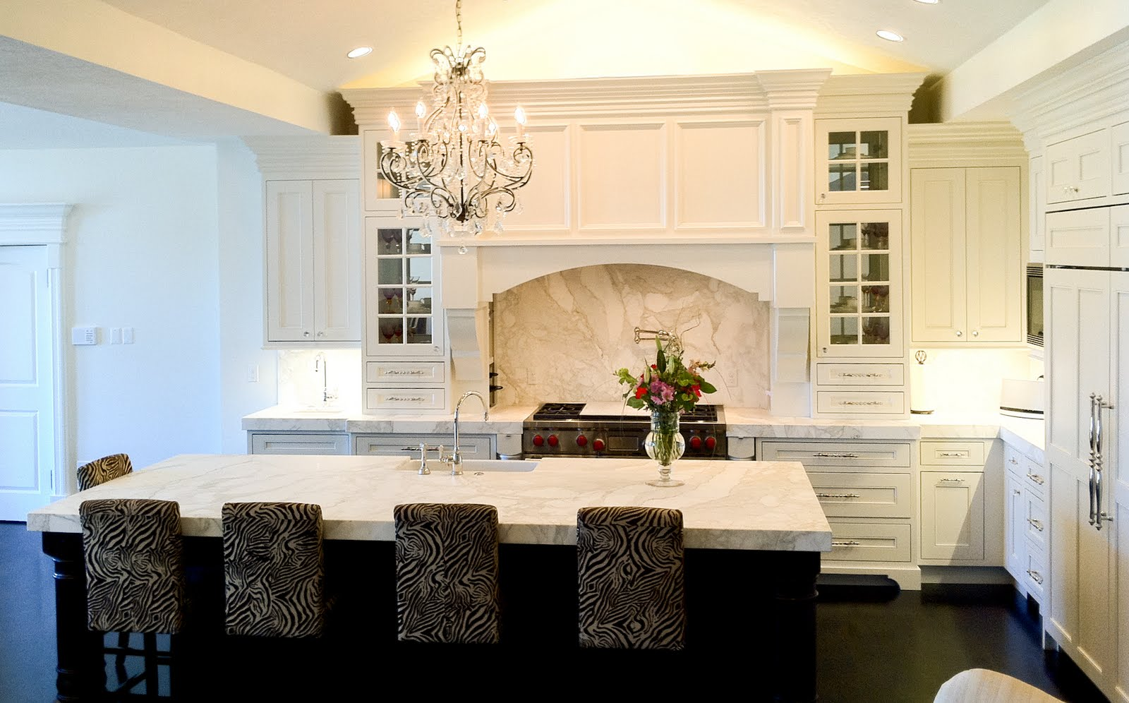 The Granite Gurus Honed Calacatta Gold Kitchen