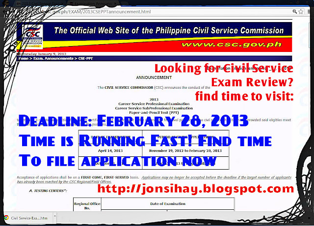 Civil service exam reviewer 2013