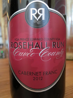 Rosehall Run Cuvée County Cabernet Franc 2012 - VQA Prince Edward County, Ontario, Canada (88 pts)