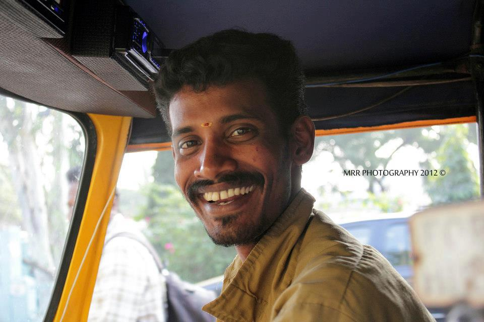 Photo of Annadurai in his Auto . Photo Courtesy : MRR Photography