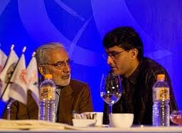 Bindra, Ganguly chit chating at IPL 3 Player Auctions
