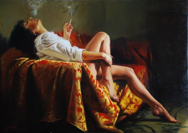 D.W.C. An Oriental Beauty - Painter Laszlo Gulyas