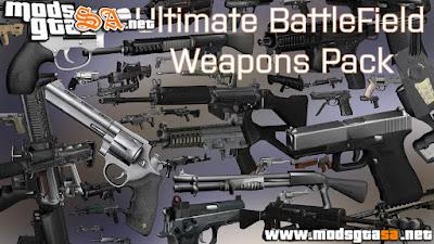 V - Pack Final de Armas do BattleField para GTA V PC