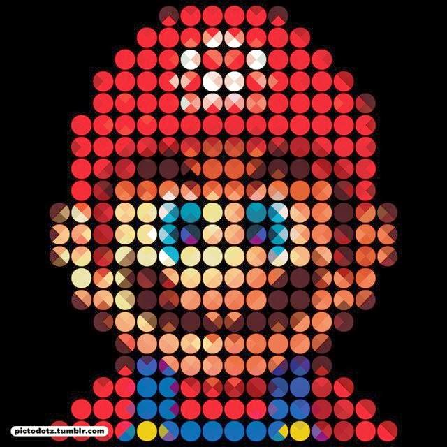 Imagens incríveis de personagens famosos feitas com pixels