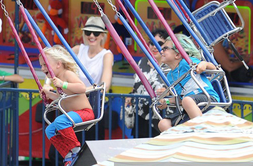 Gwen Stefani Treats Kingston & Zuma To A Ride » Gossip | Gwen Stefani