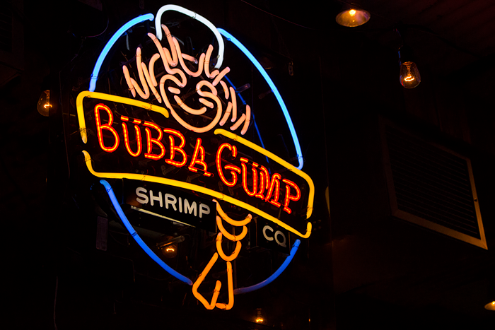 New York NYC Times Square, Bubba Gump Shrimp Company Restaurant