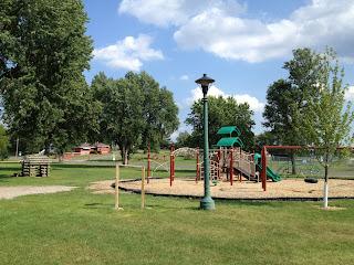 Playground at Whiteside park, Ely MN
