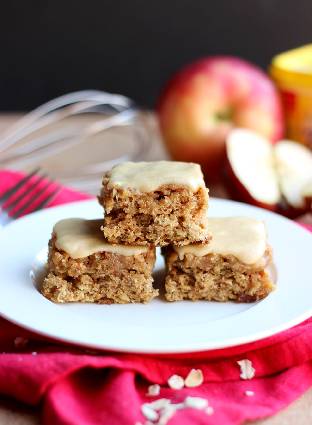 ... : Apple Cinnamon Oatmeal Snack Cake with Brown Sugar Glaze