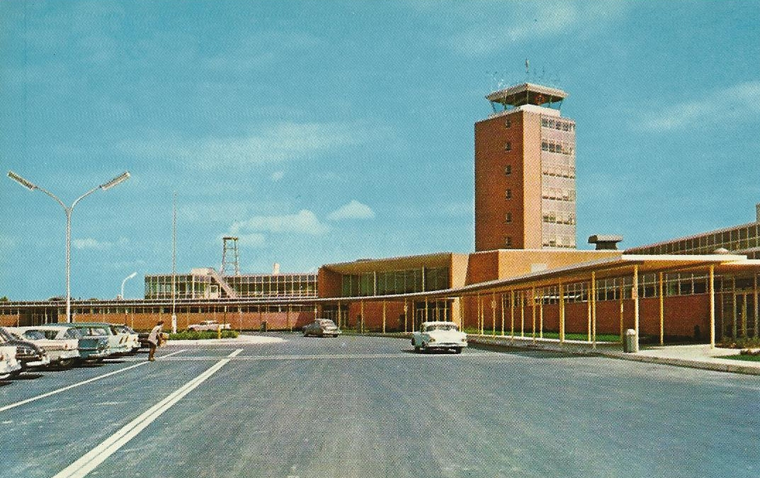 Vintage Travel Postcards Port Columbus Airport Columbus Ohio