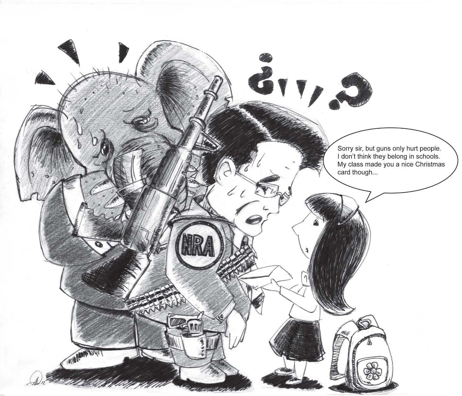 NRA vs. Little Girl | Political Cartoons