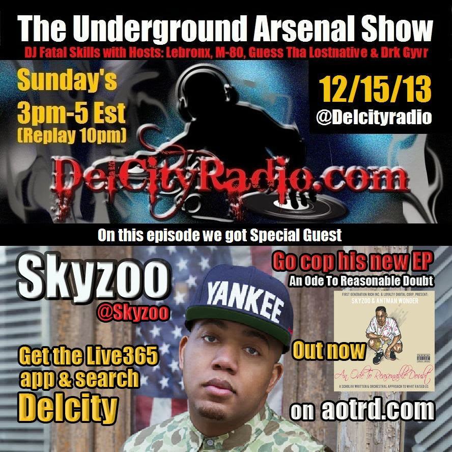 http://www.mixcloud.com/DelCityRadio/the-underground-arsenal-show-with-special-guest-skyzoo/