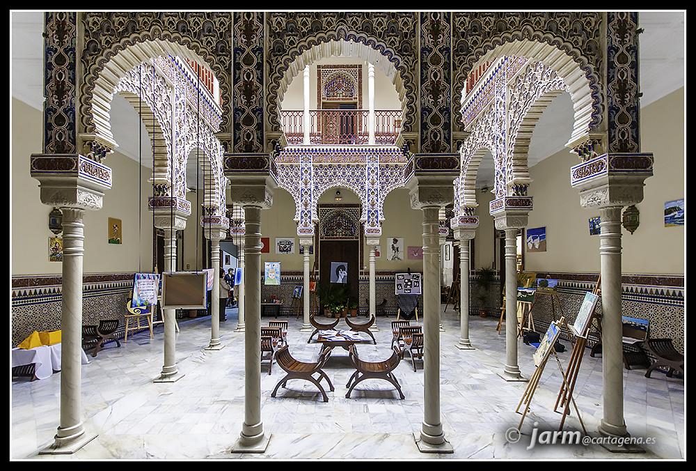LAS FOTOS DE JARM: Patio Árabe de la Casa Zapata. Carmelitas. Cartagena