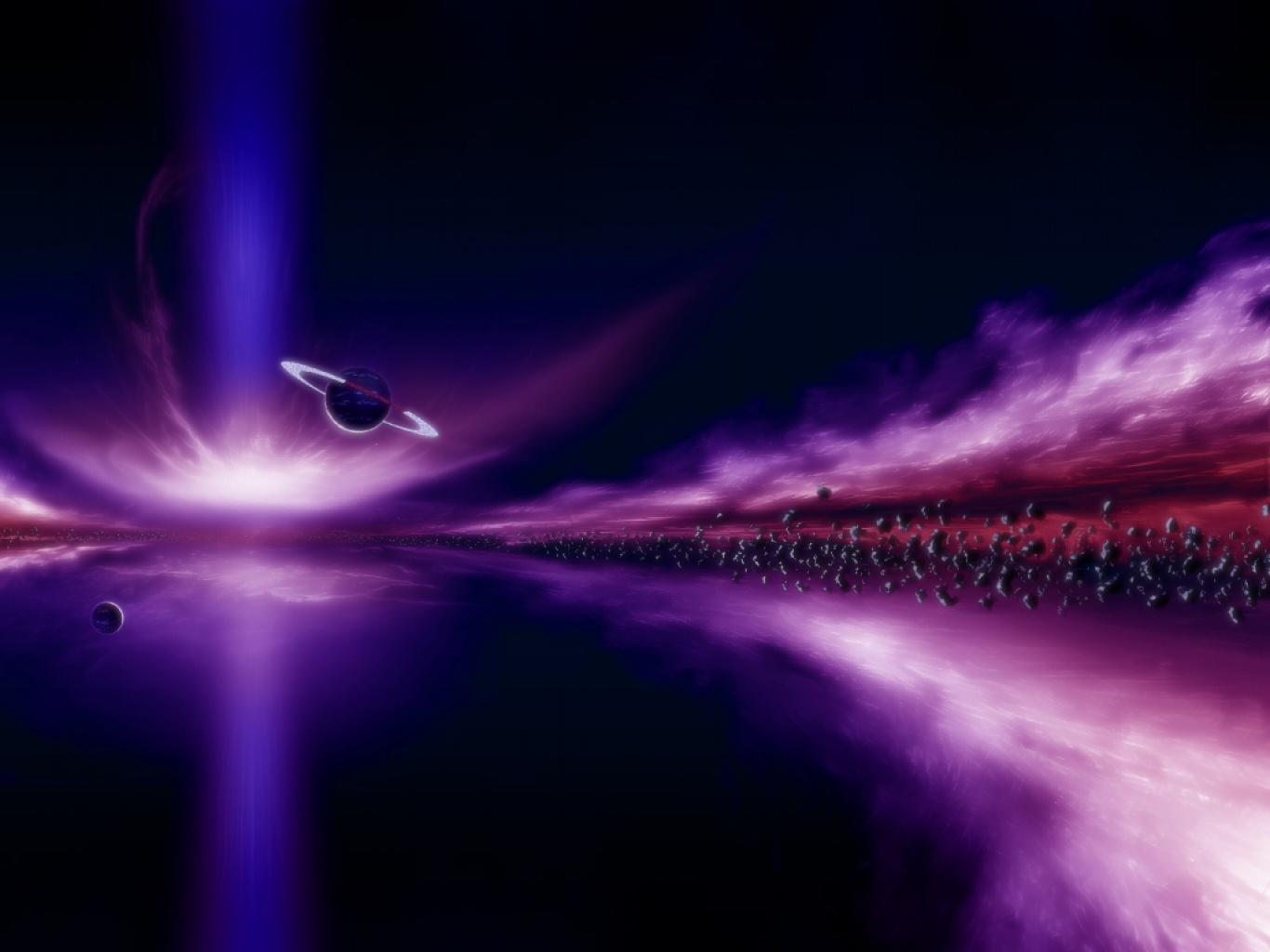 Wallpapernarium un hermoso paisaje del espacio color violeta for Espacio exterior 4k
