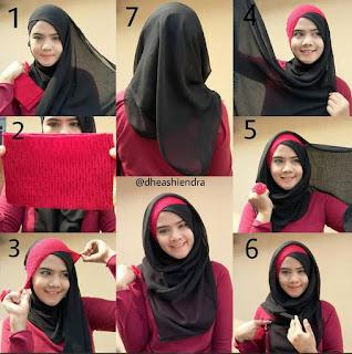 Inilah Tutorial Jilbab Menggunakan Inner Bando