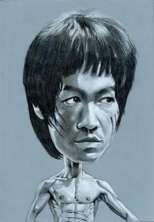 Karikatur Bruce Lee
