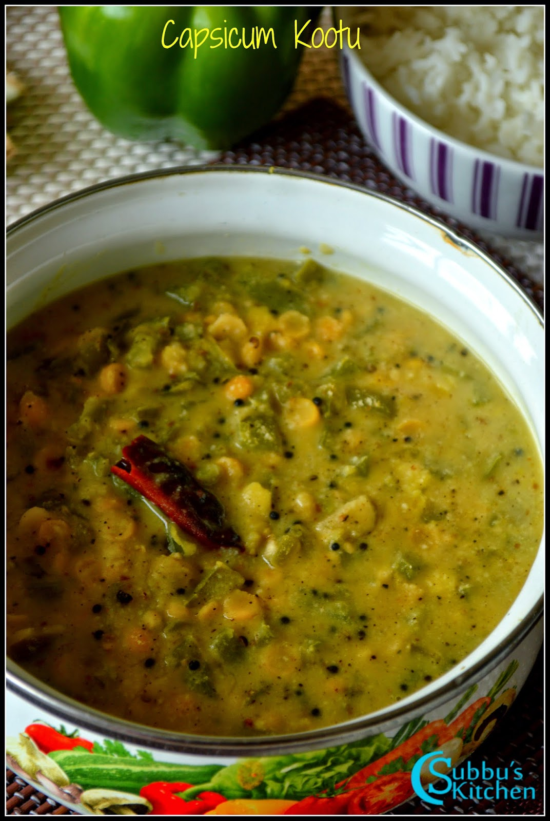 Capsicum Kootu Recipe | Capsicum Stew Recipe