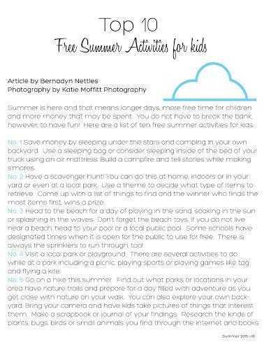 Summer Issue of Ella and Annie Magazine