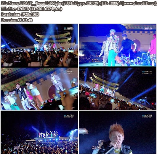 Download Performance BEAST - Beautiful Night (SBS Inkigayo 120729) (Full HD 1080i)