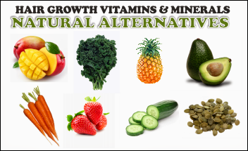 Thin Hair Growth vitamins and natural alternatives