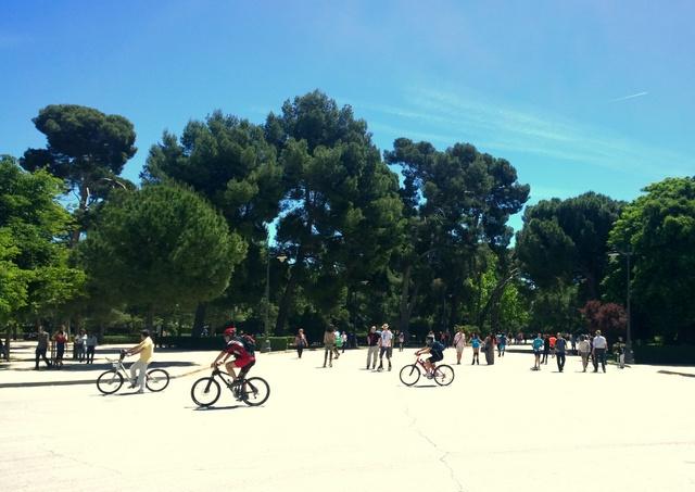bicis Parque del retiro Madrid