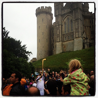 Next London Olympics 2012 : Olympic Flame Visits Arundel Castle