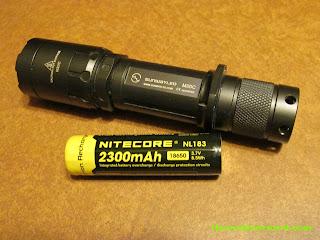 Sunwayman M20C Tactical Flashlight with Nitecore 18650 Li-Ion battery