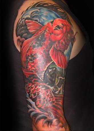 Red koi tattoos koi fish tattoo for Red koi tattoo