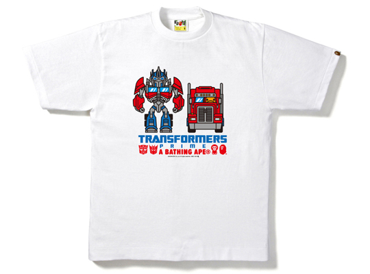 A Bathing Ape Transformers Optimus Prime T-Shirt