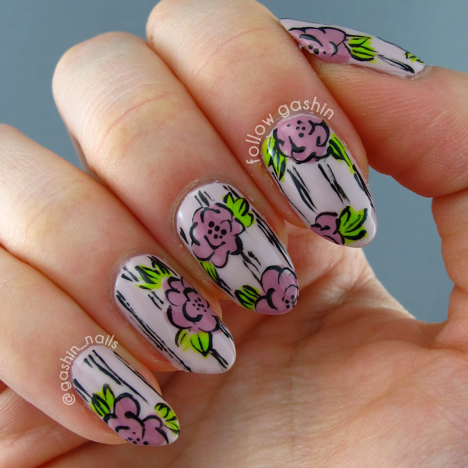 follow gashin: DIGIT-AL DOZEN WEEK: Vintage/Shabby Chic Floral Wallpaper