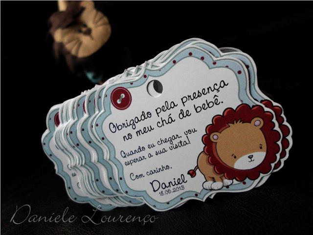 Daniele Lourenço: Tags de Agradecimento - Chá de Bebê do Daniel
